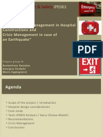 Risk & Safety Management in Hospital Constructions and Crisis Management in case of an Earthquake