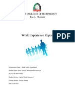 my work experience report