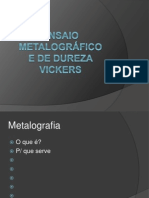 Ensaio Metalográfico