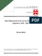 CEDES-Salud Reproductiva de Los Adolescentes