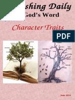 Character Traits June 2014