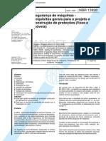 NBR 13928 - Seguranca de Maquinas - Requisitos Gerais Para O Projeto E Construcao de Protecoes (F