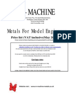 Lathe Materials Catalogue May 2011