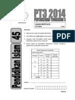 2014 PT3  Pendidikan Islam