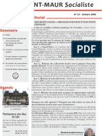 Lettre Octobre 2009 Version Web