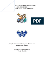 Adaptaciones Curriculares Para Alumnos Con Discapacidad Auditiva