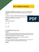 Amplificar y Simplificar Fracciones Modulo 2