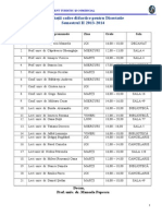 Consultatii Pentru Disertatie Sem. II 2013