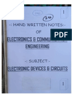 Electronics Hand Written Notes Sample