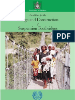 Guidelines for the Design and Construction of Suspension Footbridges