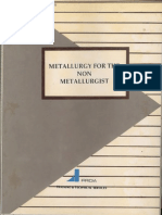Mettalurgy for the Non Mettalurgist