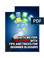 Keith Meyers Hot Sheet With Tips and Tricks for Beginner Bloggers