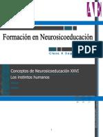 Conceptos de Neurosicoeducación XXVI - Instintos Pro Tra Scendencia