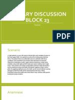 Plenary Discussion Block 23