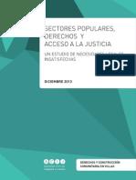 """Informe """"Sectores Populares, Derechos y Acceso a La Justicia"""""""