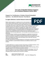 Embedded Certification-Salzburg university