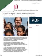 01-06-14 México ya empezó a crecer - anuncia Pedro Pablo