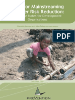 Tools for Mainstreaming DRR
