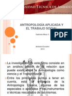 Antropología Aplicada y El Trabajo Social