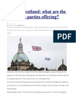 Wooing Scotland What Are the Pro-union Parties Offering