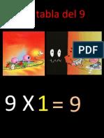 La tabla del 9