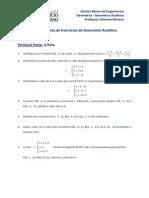 Lista de Exercicios Geometria Reta