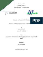 Memoire PFE Gestion Du Sport