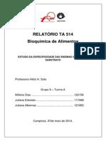 Relatório 8 Bioquimica Pronto
