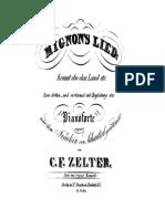 Zelter CF Mignons Lied Trautw. 1828