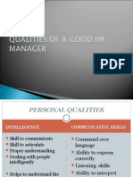 Qualities of a Good Hr Manager