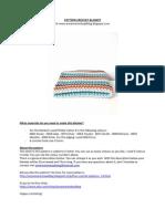 Crochet Pattern v-stitch Blanket