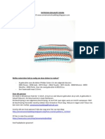 Haakpatroon v-stitch Deken