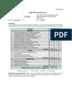 Jillian Myers Web Site Evaluation Form