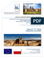 Program Congrès AEA-EAL 2014 Cracow