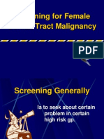 Screening for Female Genital Tract Malignancy