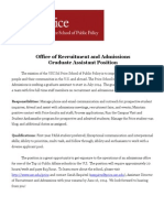 Price Graduate Assistant 1 Job Description