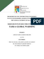 TASK 6 GLOBAL WARMING