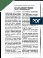 Discurso Toma de Posesión Como Presidente Adolfo López Mateos