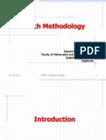 Research Methodology Slide 01