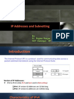 IP Addresses and Subnetting