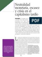 Pablo Davalos Neutralidad Monetaria