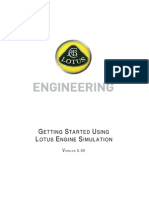 Getting Started With Lotus Engine Simulation