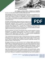 Nota de Prensa Dr. Jorge Prats y Otros Expertos.