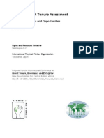 Tropical Forest Tenure Assessment Trends, Challenges and Opportunities