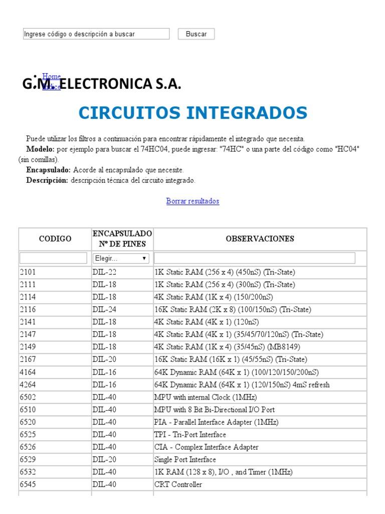 Circuito Integrado Xnor : Circuitos integrados por orden numerico