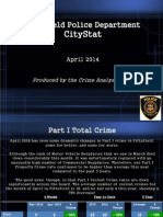 Pittsfield Police April 2014 CityStat Report