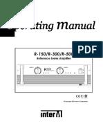 R150 300 500 InterM Manual