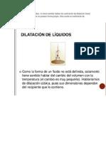 dilatacion liquidos