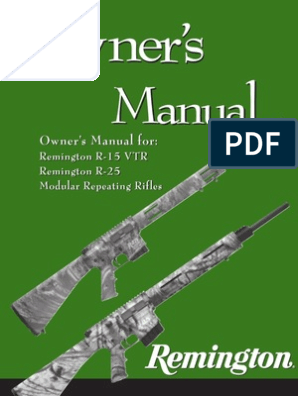 REMINGTON Model R-25 /& R-25 VTR   Owners Instruction Manual