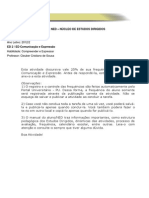 ED 2 Comunicação e Expressão Atividade Discrusiva 1 2012
